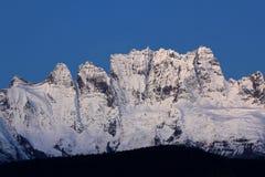 Śnieżne Meili góry Fotografia Royalty Free