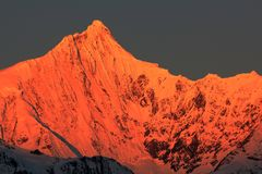 Śnieżne Meili góry Zdjęcie Stock