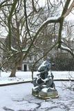 Śnieżne statuy Fotografia Stock