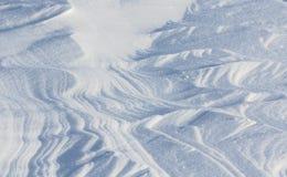 Śnieżne tekstury Obrazy Stock