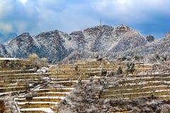 śnieżni Beijing tarasy Obraz Royalty Free