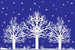 śnieżni drzewa ilustracja wektor