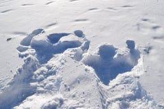 Śnieżni duchy przy plażą, obraz stock