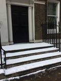Śnieżni kroki Zdjęcie Royalty Free