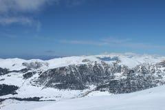 Śnieżni montains Zdjęcie Royalty Free