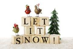 Śnieżni ptaki Zdjęcia Stock