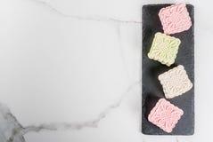 Śnieżni skór mooncakes Fotografia Royalty Free