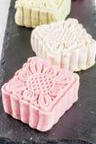 Śnieżni skór mooncakes Zdjęcie Royalty Free