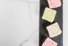 Śnieżni skór mooncakes Obraz Stock