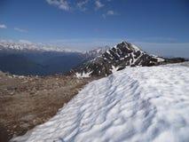 Śnieżni szczyty Kaukaz góry Zdjęcia Royalty Free
