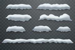 Śnieżni wzgórza, snowdrifts Realistyczne śnieg masy ilustracji
