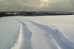 śnieżny ślad Fotografia Royalty Free