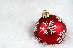 śnieżny bauble płatek śniegu fotografia royalty free