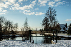Śnieżny biel w Wanneperveen Zdjęcie Royalty Free