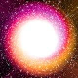 Śnieżny Bożenarodzeniowy Czerwony zawijas dziury przestrzeni tło Zdjęcia Stock