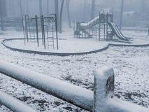Śnieżny boisko fotografia stock