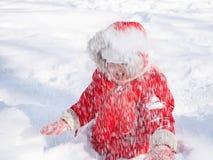 śnieżny dziewczyna berbeć fotografia stock