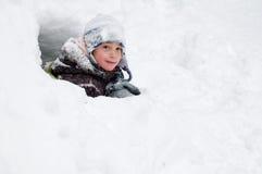 Śnieżny fort Obrazy Stock