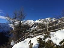 Śnieżny góra krajobraz w vipiteno w trentino alcie Adige fotografia royalty free