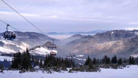 Śnieżny góra ośrodek narciarski Obrazy Stock