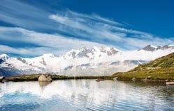Śnieżny halny jezioro Obrazy Stock