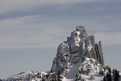 Śnieżny halny Plankenstein w zimie fotografia stock