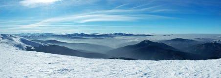 śnieżny halny szczyt Zdjęcie Stock