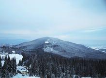 Śnieżny halny szczyt w ranku Zdjęcie Royalty Free