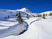 Śnieżny halny wybór fotografia stock