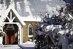 Śnieżny kościół obraz stock