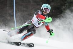 Śnieżny królowej trofeum 2019 - damy Slalomowe zdjęcia stock