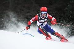 Śnieżny królowej trofeum 2019 - damy Slalomowe obraz royalty free