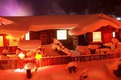 Śnieżny kraj w Chiny zdjęcie royalty free