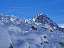 Śnieżny krajobraz w Dufourspitze Zdjęcie Stock