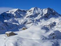 Śnieżny krajobraz w Dufourspitze Obrazy Stock