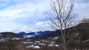 Śnieżny krajobraz w Pyrenees, Francja zbiory