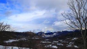 Śnieżny krajobraz w Pyrenees, Francja zdjęcie wideo