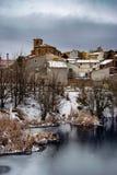 Śnieżny kraju krajobraz, Zdjęcia Royalty Free