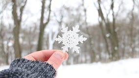 Śnieżny kreatywnie pojęcie, płatek śniegu na tle spada śnieg zdjęcie wideo
