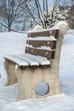 Śnieżny kształtuje teren widok Zdjęcia Royalty Free