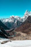 Śnieżny lodowiec, góry i Obraz Stock