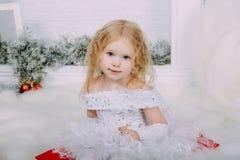 Śnieżny mały princess Zdjęcia Royalty Free