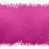 Śnieżny menchia koloru zimy szablon ilustracji