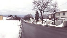 Śnieżny miasto zdjęcia royalty free