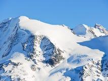 Śnieżny Mont Blanc teren w Alps Zdjęcia Stock