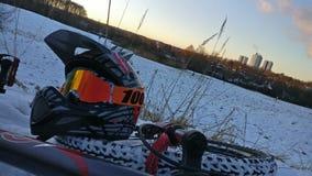 Śnieżny Mountainbike zdjęcia stock