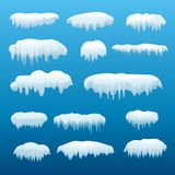 Śnieżny nakrętka set royalty ilustracja