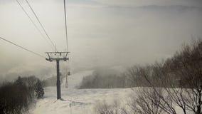 Śnieżny ośrodka narciarskiego krajobraz zbiory wideo