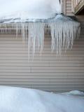 Śnieżny obwieszenie Obrazy Royalty Free