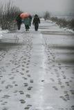 śnieżny odprowadzenie Zdjęcie Stock